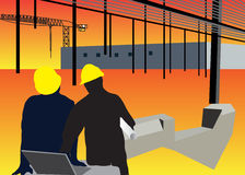 Construction Site Background. Vector illustration of a construction site background Stock Photos