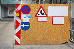 Construction Site Barrier Royalty Free Stock Photo
