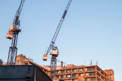 Construction site behind a Hospital Royalty Free Stock Image