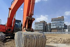 Construction site in Beijing. Hi-Tech garden of Beijing. It is in the south of Beijing. Takes up an area of 8.18 sq. Km .. Here has concentrated thousands of Royalty Free Stock Photos