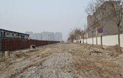 Construction site in beijing Royalty Free Stock Photos