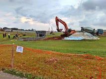 Construction site in Bidadari, Singapore Stock Photo