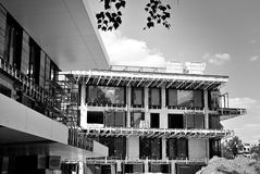 Construction site.Black and white. Stock Photography