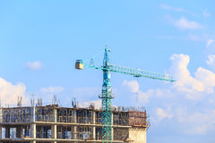 Construction site with blue sky Stock Photos