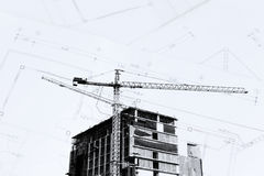 Construction site with blue sky Stock Photography