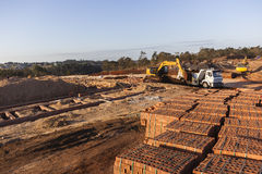 Construction Site Bricks Earthworks Stock Photography