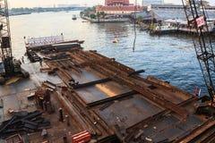 Construction site of Bridge Stock Image