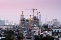 Construction site building at  Bangkok Royalty Free Stock Photos