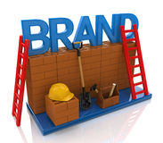 Construction site building brand text idea concept. In the design of information related to business royalty free illustration