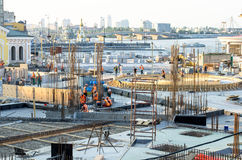 Construction site building in city center Stock Photos