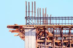Construction site building, Construction home architecture project area, House construction image for background, cement wood. The Construction site building stock photo