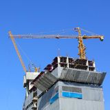 Construction site building industry with machinery crane. Working Royalty Free Stock Images