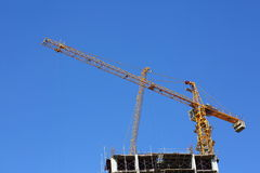 Construction site building industry with machinery crane Stock Photography