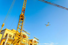 Construction site of the Building. In Montenegro stock photography