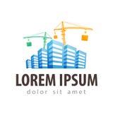 Construction site, building site vector logo Stock Photography