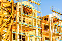 Construction site of the Building. Construction site of the unfinished Building royalty free stock photography