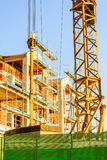 Construction site of the Building. Construction site of an unfinished building royalty free stock image