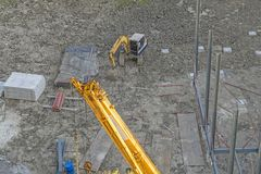 Construction site building worker industrial work engineering royalty free stock photo