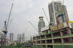 Construction site buildings in the capital Stock Photo