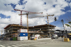 Construction site. Construction of buildings in wien Stock Photo