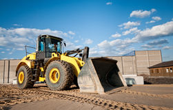 Construction site bulldozer Stock Images