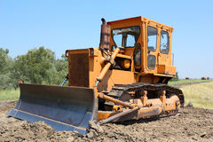 Construction site with bulldozer Stock Photography