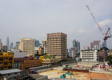 A construction site at business district in Kuala Lumpur, Malaysia Royalty Free Stock Photography