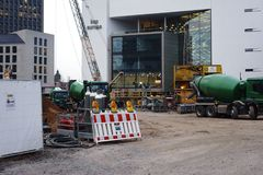 Construction site before the Cape Europe Congress Center Frankfurt Royalty Free Stock Photography