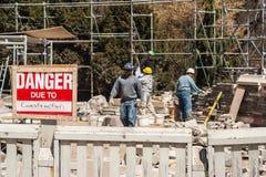 Construction on site of Casa Loma, Toronto Royalty Free Stock Photo