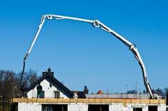 Construction site cement hose Stock Image