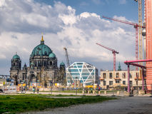 Construction site  in the center of Berlin, Germany Stock Image