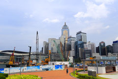 Construction site in central, hong kong Stock Photography
