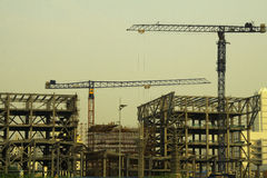 Construction site in China. Construction site with cranes in Wuxi, China Stock Photography