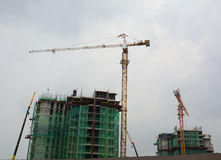 A construction site in Chinatown, Kuala Lumpur, Malaysia Royalty Free Stock Photography