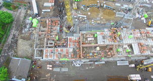 Construction Site In The City Aerial View stock video footage