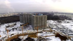 Construction site in the city stock footage