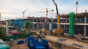 Construction site in city Royalty Free Stock Image