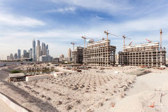 Construction site in the city of Dubai Stock Photography