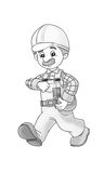 Construction site - coloring page Stock Image