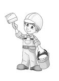 Construction site - coloring page Stock Images