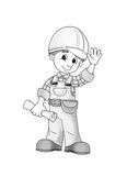 Construction site - coloring page Royalty Free Stock Photography