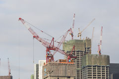 Construction site of Commercial building Stock Photo