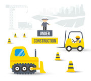 Construction Site. Concept of City Building Royalty Free Stock Photo