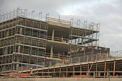 Construction site of concrete building Stock Image