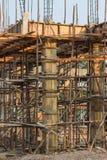 Construction site of concrete building Royalty Free Stock Photos