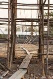 Construction site of concrete building Stock Photography