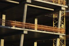 Construction Site. Concrete Highrise Construction Site background stock photography
