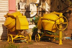 Construction Site Concrete Mixers royalty free stock images