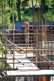 Construction site with concrete and steel Royalty Free Stock Images