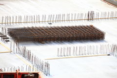 Construction site concrete steel Royalty Free Stock Image